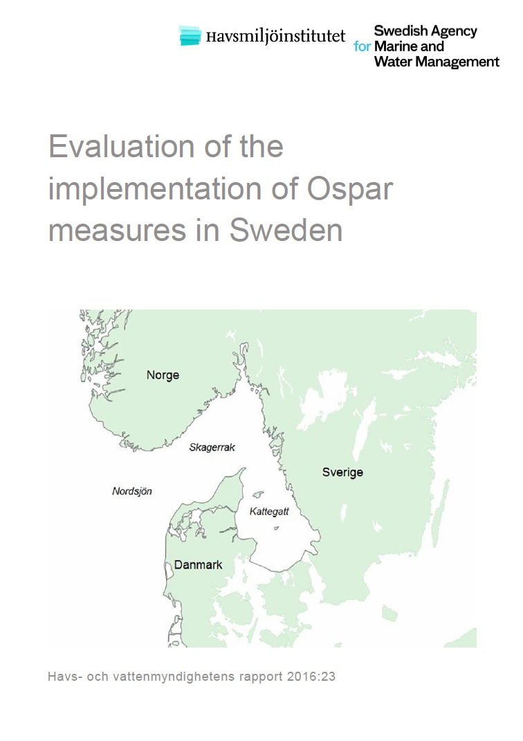 Evaluation of the implementation of Ospar measures in Sweden. Omslag till rapport.