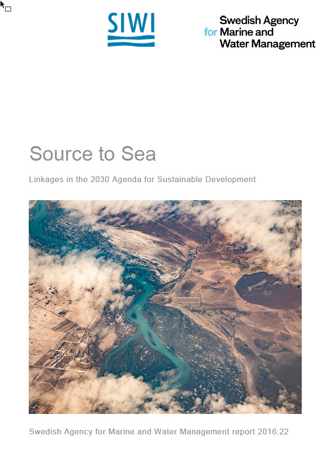 Source to Sea - linkages in the 2030 Agenda for Sustainable Development. Cover image.