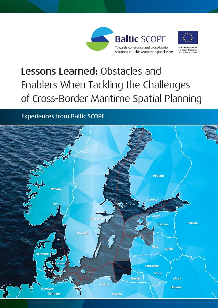 Omslag rapport - lessons learned - Baltic scope