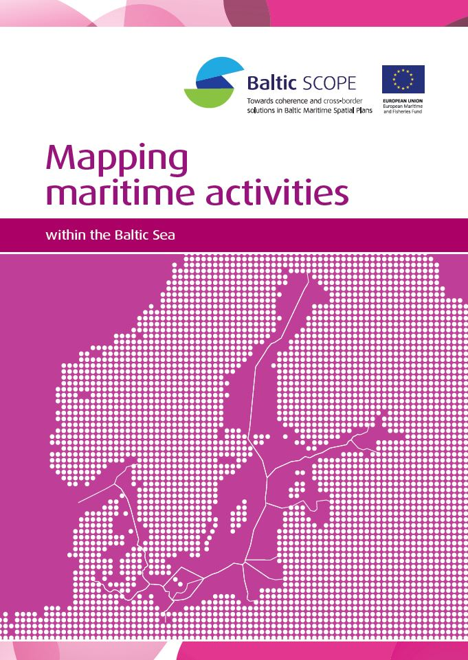 Mapping Maritime Activities within the Baltic Sea. Omslag till rapport.