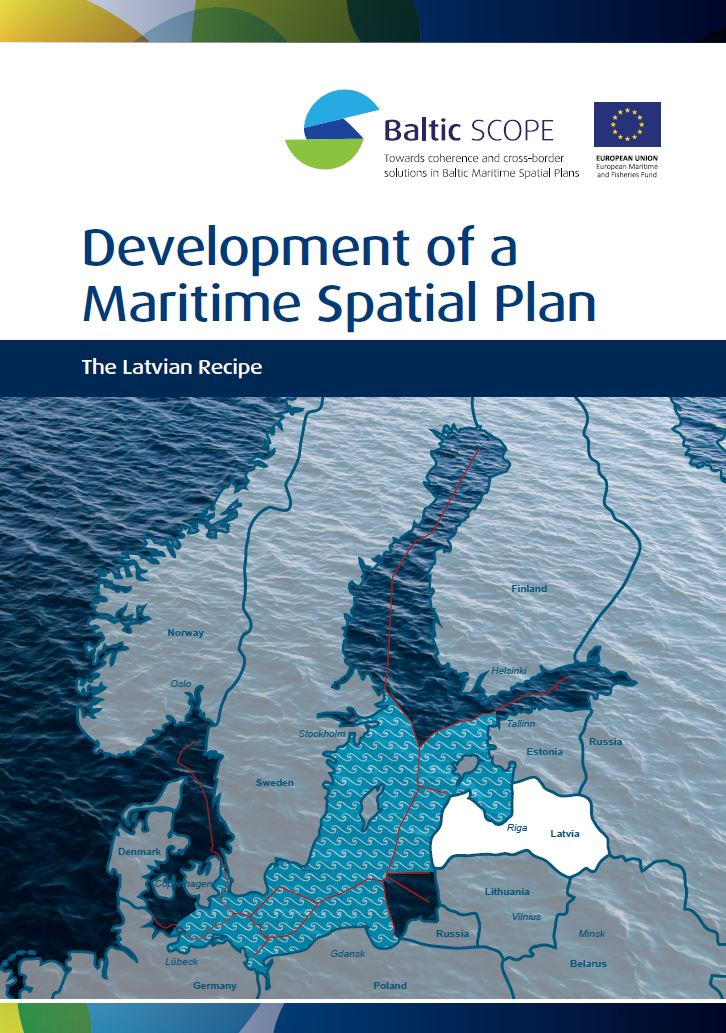 Omslag rapport - Developement of a Maritime Spatial Plan